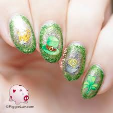 piggieluv lucky hat nail art for st patrick u0027s day