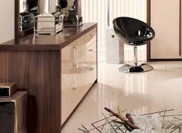 modern capri high gloss cream u0026 dijon walnut bedroom strachan