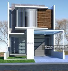 desain rumah lebar 6 meter desain rumah minimalis modern lebar 6m 2 lantai cibubur area