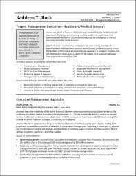 Example Of Healthcare Resume by Management Resume Sample Healthcare Industry
