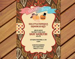 pumpkin gender reveal pumpkin gender reveal invitation fall