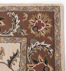 Green And Brown Area Rugs Traditional Antique Hand Tufted Wool Area Rug Carpet 5x8 Floral