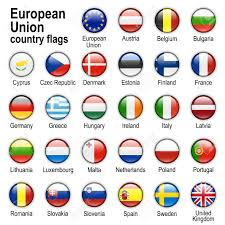 European Countries Flag Flags Of Countries Members Of European Union Stock Photo