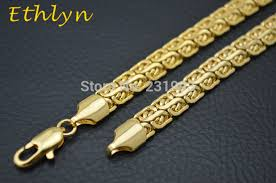 aliexpress buy ethlyn new arrival trendy medusa online shop ethlyn mens gold jewelry customized size 7mm 60cm gold