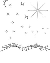 free printable follow star birth jesus coloring