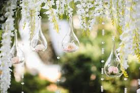 Wedding Pictures Decoration For A Wedding With Spheres With Flowers Inside Photo