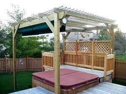 deck privacy wall pergola over tub fence accessories photo