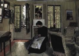 chambre gris vert intérieur chambre gris vert avec femme en noir cousant by félix