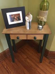 Painted Accent Table Chalk Synthesis Painted Accent Table Old House To New Home
