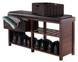 Cushion Top Storage Bench by Shoe Storage Bench With Cushion Bench Holic