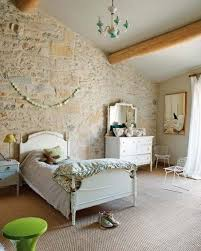 bedroom lovely bedroom in country style with stone walls and