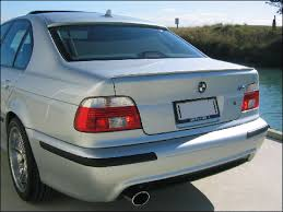 painted process roof spoiler for bmw e39 5 series a type 1997 2003