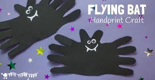 halloween bats halloween bat handprint craft kids craft room