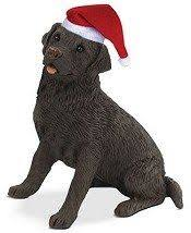golden retriever dog christmas tree wooden handpainted 3
