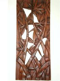 wooden leaves wall wall designs wood carved wall bali bamboo leaves wall