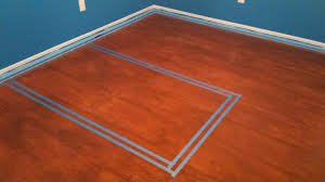 Laminate Flooring Border Painted Plywood Floor Basketball Court Dream Home Improvement