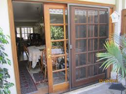 Patio Screen Frame Sliding Patio Doors With Screens U2013 White Stained Wooden Door Frame