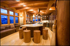 Kitchen Ideas Island Log Home Kitchen Islands Kitchen Is The Unique Log Stool