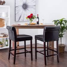 cosmopolitan black leather counter stools set of 2 free