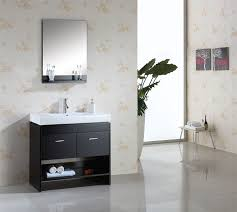 Small Contemporary Bathroom Vanities by Abodo 36 Inch Contemporary Bathroom Vanity Solid Oak Wood Construction