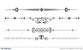 ornamental rule lines illustration 40011872 megapixl