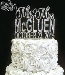 bling decorations for weddings s crystal rhinestone name with date