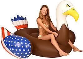 amazon pool floats amazon com coconut float pool floats bald eagle pool raft 6 5 ft