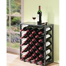 metal wine rack table metal wine rack bottle holder bar glass storage grey floor standing
