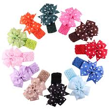headbands with bows children headbands cloth girl hair band flower bows infant