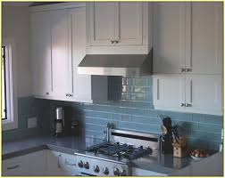 Light Blue Kitchen Backsplash by Blue Subway Tile Kitchen Backsplash Home Design Ideas