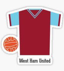 West Ham Duvet Cover West Ham Stickers Redbubble
