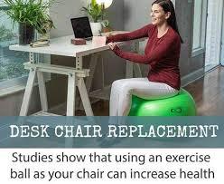 Sitting On A Medicine Ball At Desk Professional Grade Anti Burst Exercise Ball Live Infinitely