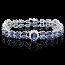 diamond bracelet with sapphire images Diamond gemstone bracelets 3 50 ct b sapphire 18 50 ct solid gold jpg