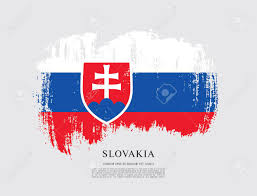 Slovak Flag Flag Of Slovakia Brush Stroke Background Cliparty Ilustracje