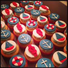 nautical themed baby shower cupcakes my expeditions in baking