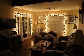 ceiling living room lights living room fairy lights single seater patterned sofa dark brown