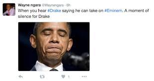 Eminem Drake Meme - drake half challenges eminem to rap battle internet fully reacts