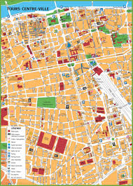 Rouen France Map by Tours Tourist Map