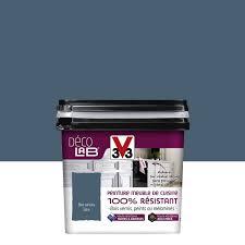 v33 meuble cuisine peinture décolab meuble de cuisine 100 résist v33 bleu carbone