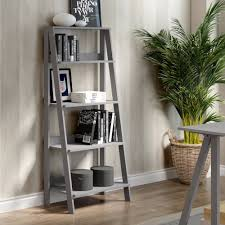 Wooden Ladder Bookcase by 55