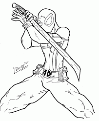 deadpool coloring page coloring home