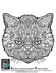 free complicated cats printable coloring pages complicated