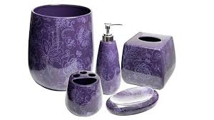 purple bathroom accessories decorinteresting fine purple bathroom