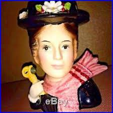 Vintage Lady Head Vases Vintage Headvase Lady Head Vase Rare Walt Disney Mary Poppins