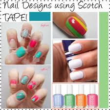 nail design using tape