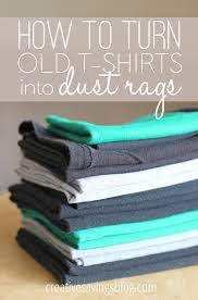 How To Make A Rag Rug From T Shirts How To Turn Old T Shirts Into Dust Rags Kalyn Brooke
