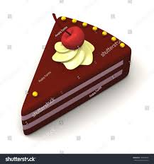 piece cake cherry 3d stock illustration 124038526 shutterstock