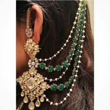 hair chains trending stunning earrings with hair chains wedmegood