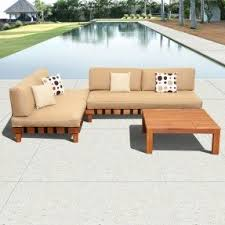 High Quality Patio Furniture Eucalyptus Patio Furniture Sets Foter