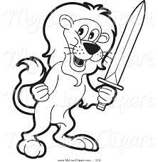 lion outline clipart 1955747